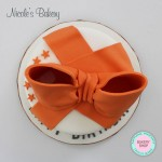 Big Orange Bow Cake