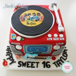 Disk player cake