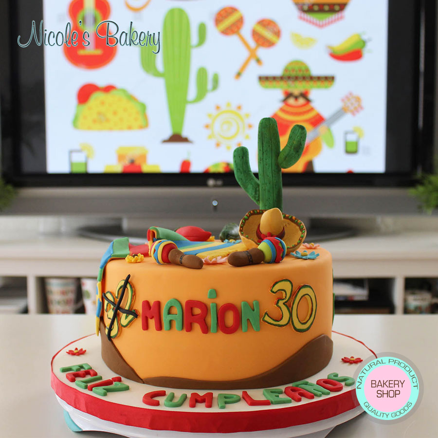 Groovy Mexican Themed Cake Funny Birthday Cards Online Alyptdamsfinfo