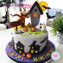 Haunted House Cake - Halloween Cake