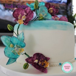Cake with Orchids
