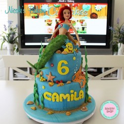 Little Mermaid Themed Cake