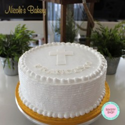 Christening/Baptism Cake with White Meringue