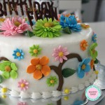 Buttercream Cake, Flowers Design by Nicole's Bakery