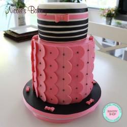 Cake B design with Fondant & Buttercream