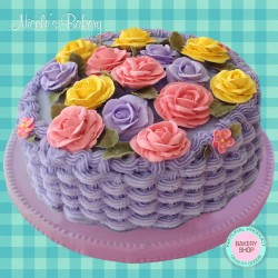 Purple Basket Cake